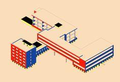 Bauhaus architectural drawing