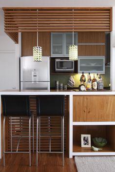 integração bancada - sala/cozinha