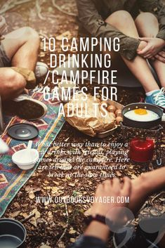 Need some campfire entertainment for those slow times when you're enjoying the great outdoors? Let's face it, one of the fun things to do when you're #camping is to get your drink on, so we have a list of some fun camping drinking campfire games for adults. Go ahead and give them a shot! www.outdoorsvoyager.com #campfiregames #drinkinggames #gamesforadults