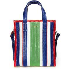Balenciaga 'Bazar' Small Bag (€1.305) ❤ liked on Polyvore featuring bags, handbags, real leather bags, white bag, leather handbags, genuine leather bags and white handbags