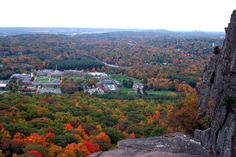 Looking at the Beautiful Quinnipiac Campus - been there and wishful thinking that I was looking down from Sleeping Giant.