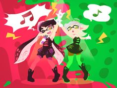 Squid sisters help a squid out
