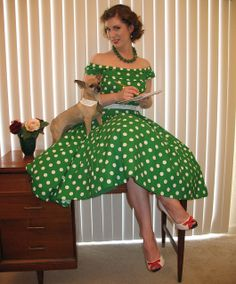 polka dots and pup by vintage laura, via Flickr