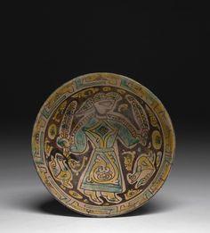 Coupe au personnage, Nichapour, art samanide, 10e siècle