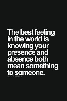 Best feeling in the world.