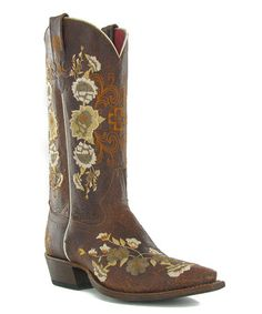 Take a look at this Chocolate Rose Garden Boot - Women by Macie Bean on #zulily today!