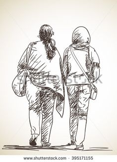 Find Sketch Walking Couple Hand Drawn Illustration stock images in HD and millions of other royalty-free stock photos, illustrations and vectors in the Shutterstock collection. Human Figure Sketches, Human Sketch, Figure Sketching, Figure Drawing, Pencil Art Drawings, Drawing Sketches, Cartoon Sketches, Sketches Of People, Drawing People