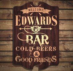 Constructed from a real wood material, this tavern sign makes for a great gift and decor idea. The rustic design is trendy and stylish with its dark brown background tones and light wood text. Handcrafted in the USA, This tavern sign depicts high quality and durable construction perfect for your home bar, rec room, man cave, bar or anywhere else you choose to entertain friends and guests. The best part is, you can completely customize it making it a personalized piece of art.