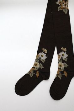 """The Garden"" over the knee socks by Antipast"