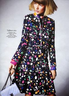 """All Print Spring"" Lou Schoof by Mario Principe for Glamour Spain March 2015"