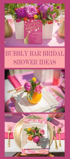 Bubbly Bar Bridal Shower and Wedding Ideas