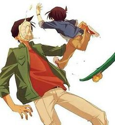 Conan and Heiji are always making us laugh when they're together! Not mine, but I wish it was. XD
