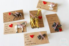 Such a cute idea for Valentine's Day! | Blue Robin Cottage: Will Zoo Be Mine?