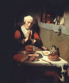 Nicolaes Maes (1634-1693) - Old Woman in Prayer, 1656