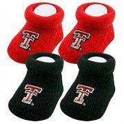 Texas Tech Red Raiders Infant Scarlet & Black 2-Pack Bootie Socks