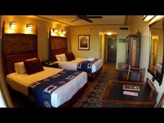 This is a detailed look at our Courtyard view room on the concierge floor at Disney's Wilderness Lodge.