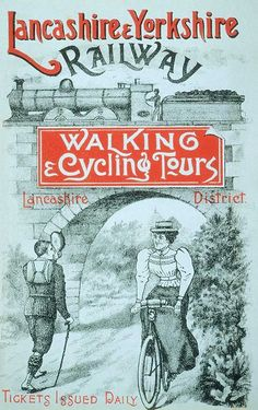 1901 Lancashire & Yorkshire - great cycling ad & she's wearing a very #Londonderry inspired hat