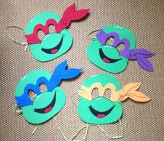 Máscaras de Goma Eva de tortugas Ninja