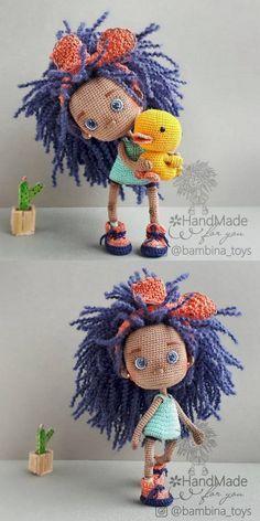 20 Best Amigurumi Doll And Animal Free Crochet Patterns - Amigurumi Free Patterns Doll Amigurumi Free Pattern, Crochet Dolls Free Patterns, Crochet Doll Pattern, Amigurumi Doll, Doll Patterns, Pikachu Crochet, Kawaii Crochet, Crochet Yarn, Crochet Toys
