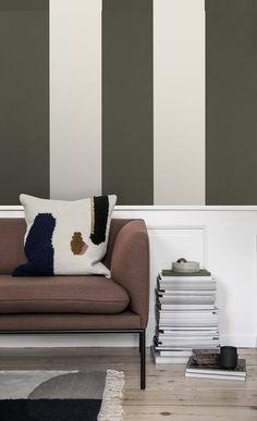 Skandinavisch: Streifentapete #wohnzimmer #hygge Skandinavisch, Streifen,  Wandfarbe, Tapeten, Inspirierend