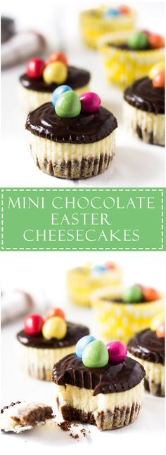 Mini Chocolate Easter Cheesecakes | Marsha's Baking Addiction