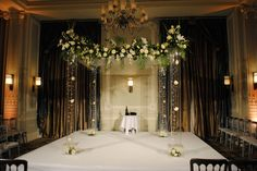 Our beautiful acrylic chuppah used for Jewish wedding ceremonies. www.qubeevents.co.uk