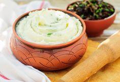 Purè di patate con aglio ed erbe