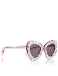 Clear Pink Intergalactic Sunglasses