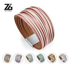 $10.84 | ZG Bohemian Leather Bracelets for Women 2019 Fashion Ladies Slim Strips Multilayer Wide Wrap Bracelet Female Jewelry Gift Outfit Accessories FromTouchy Style | Free International Shipping. Little Girl Jewelry, Girls Jewelry, Gifts For Teens, Gifts For Women, Charm Jewelry, Jewelry Gifts, Teenager Fashion Trends, Custom Charms, Bff Gifts