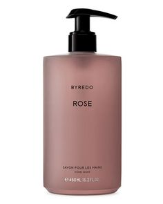 Byredo enhances the most habitual of gestures with enchanting fragrance; Rose hand wash has a light yet nourishing texture, bidding a gentle cleanse, luxurious hydration and superb softening to battered extremities Liquid Hand Soap, Hand Lotion, Hand Soaps, Body Lotion, Aquis Hair Towel, Neiman Marcus, Soap Packaging, Packaging Design, Packaging Stickers