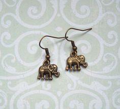 Ohrhänger - Ohrringe Elefant bronze Orient Boho - ein Designerstück von MiMaKaefer bei DaWanda