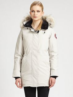 Canada Goose - Victoria Parka - http://Saks.com http://v.downjackettoparea.com Cannadagoose JACKETS is on clearance sale, the world lowest price. --The best Christmas gift $169