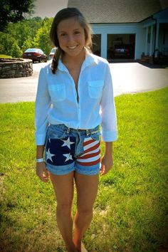High waist patriotic shorts...making these tomorrow!
