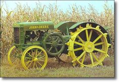 Nesbitt's had an old lug wheel tractor like this in Ralston: The First John Deere Tractor