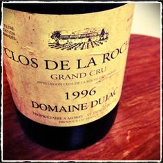 Tonight Ru drink of Clos de la Roche '96 Domaine Dujac.  I am a little worried about aging at home.  # Vin # wine # bourgogne