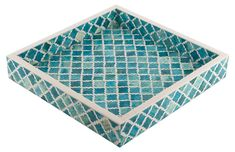Morrocan Tile Tray, Turquoise Now: $71.00 							Was: $89.00