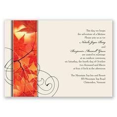 Autumn Glory - Invitation----- Love it!!!