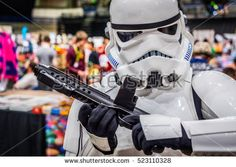 Sheffield, UK - June 12, 2016:  Cosplayer dressed as a 'stormtrooper' from 'Star Wars' at the Yorkshire Cosplay Convention at Sheffield Arena