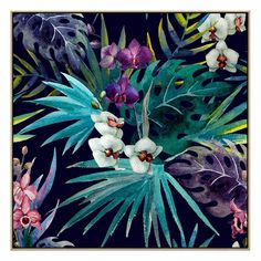Splendida - With it's bold design and abstract interpretation of native flowers, this chic, vibrant accent brings a sophisticated and botanic feel to your home or office. Available in a range of sizes on our website: www.united-interiors.com.au  #interiors #interiordesign #painting #print #canvas #art #decor