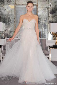 romona keveza fall 2016 luxe bridal strapless sweetheart neckline romantic pretty tulle a  line wedding dress rk6466