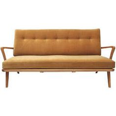Sofa or Daybed of the 50's, German Design, Massive And Varnished Teak