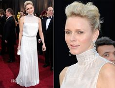 Princess Charlene Of Monaco wore an Akris couture gown created by designer Albert Kriemler – 2012 Oscars