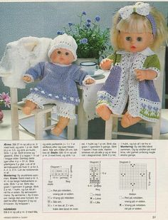Doll Clothes Patterns, Doll Patterns, Knitting Patterns, Baby Born, Album, Crochet Toys, Baby Knitting, Baby Dolls, Clip Art