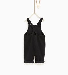 ZARA - KIDS - Embroidered dungarees with pockets e2c57fb17a12a
