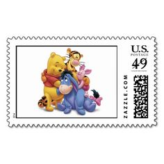 Winne the Pooh and Friends Disney Postage Stamp
