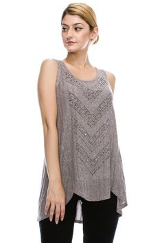 Vocal Sleeveless Top with Stones