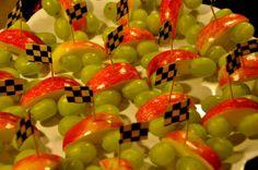 race car fruit snack