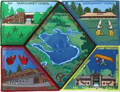 One of two #Yawgoog Centennial puzzle patch sets.  Shown is the regular version with color borders.  Image by David R. Brierley.