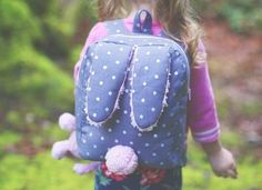 Cat Backpack Free Pattern - Sew Much Ado Cat Backpack, Toddler Backpack, Backpack Pattern, Backpack Tutorial, Sewing For Kids, Baby Sewing, Sewing Box, Sewing Patterns Free, Free Pattern