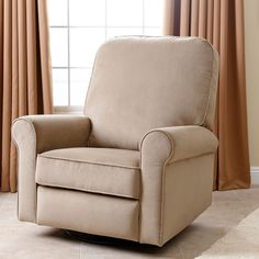 Abbyson Perth Beige Fabric Swivel Glider Recliner Chair (Beige)